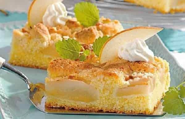Пирог с творогом и грушами в духовке рецепт