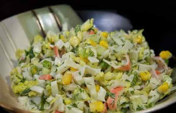 Салат легкий с